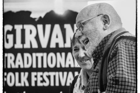 Bob Blair and Sandra Kerr at Girvan Folk Festival